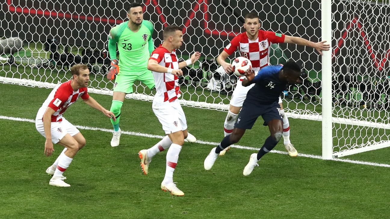 France's second goal came from a penalty given after a video review.