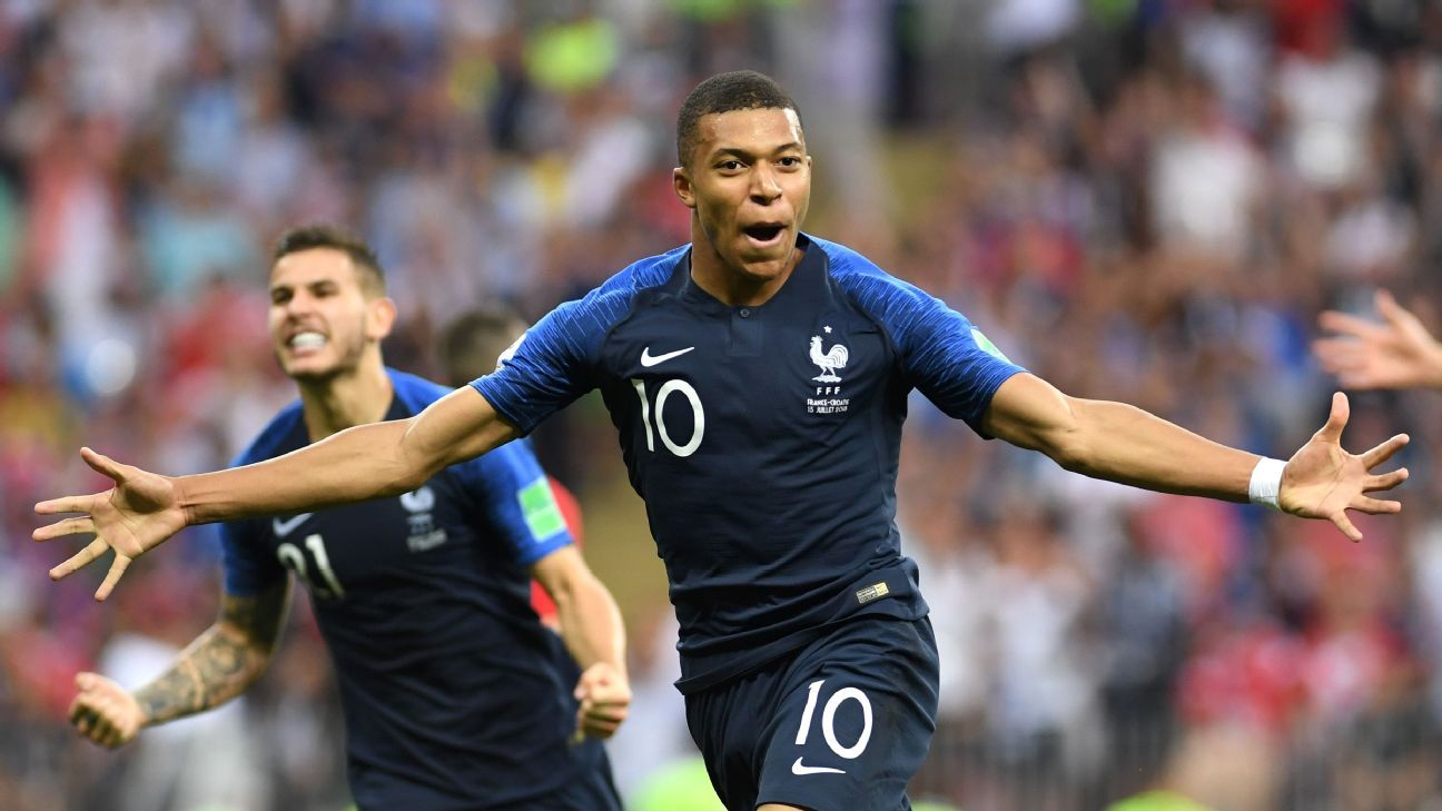 Kylian Mbappe became the youngest World Cup final scorer since Pele in 1958.