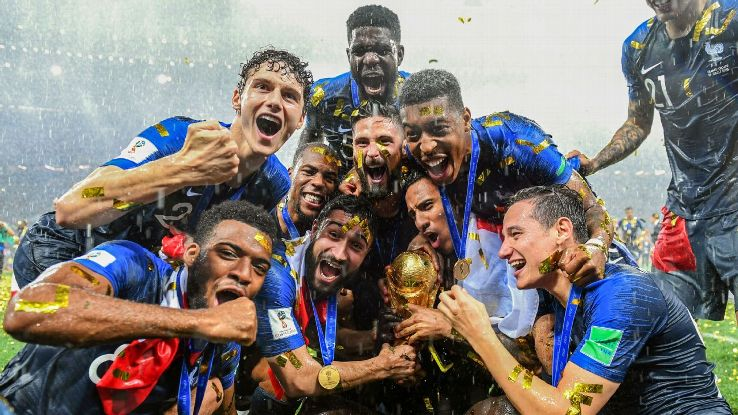 There were jubilant scenes at the Luzhniki Stadium as France overcame Croatia.