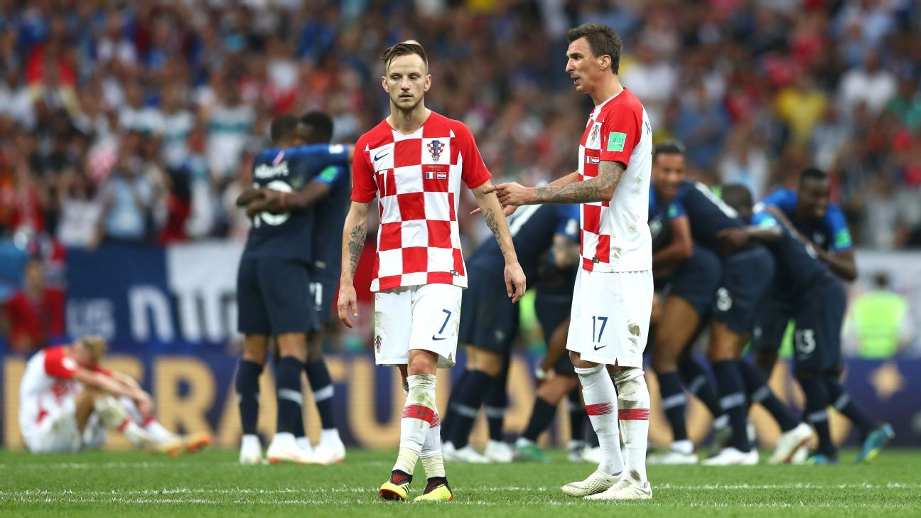 Despite the efforts of Ivan Rakitic, left, and Mario Mandzukic, right, Croatia came up short vs. France.