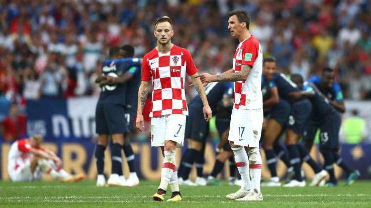 Despite the efforts of Ivan Rakitic, left, and Mario Mandzukic, right, Croatia came up short vs. France.