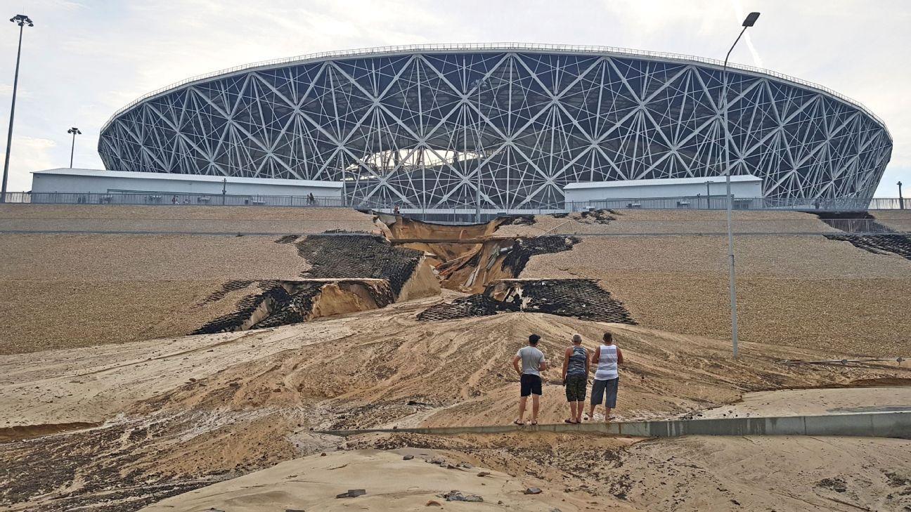 Volgograd arena landslide