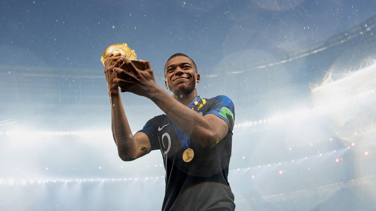 France's Kylian Mbappe scored four goals at the World Cup.