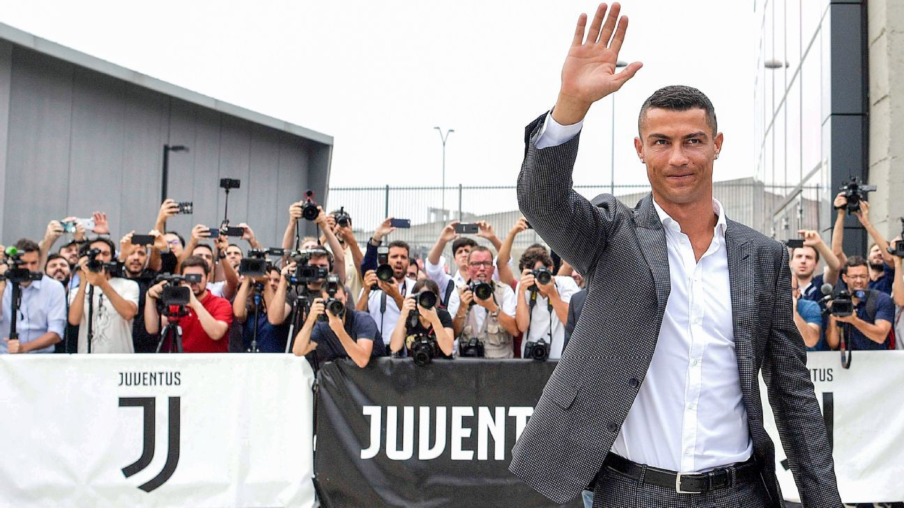 Cristiano Ronaldo joined Juventus from Real Madrid in July.