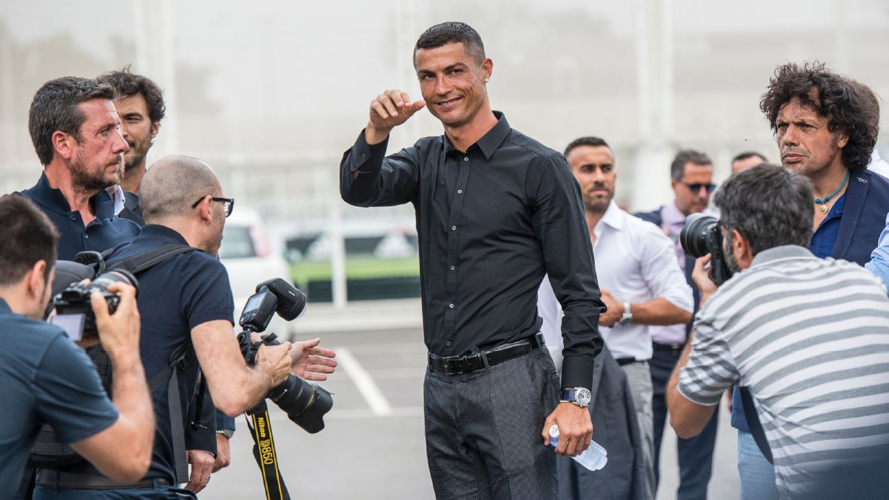 Cristiano Ronaldo looked calm and content at his Juventus unveiling, answering questions with ease and showing his excitement for the challenge ahead.