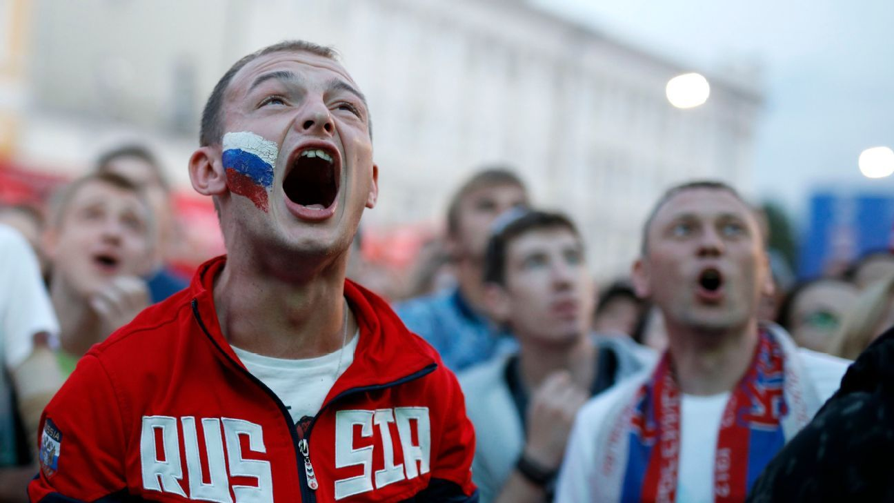 Soccer fans of Russia