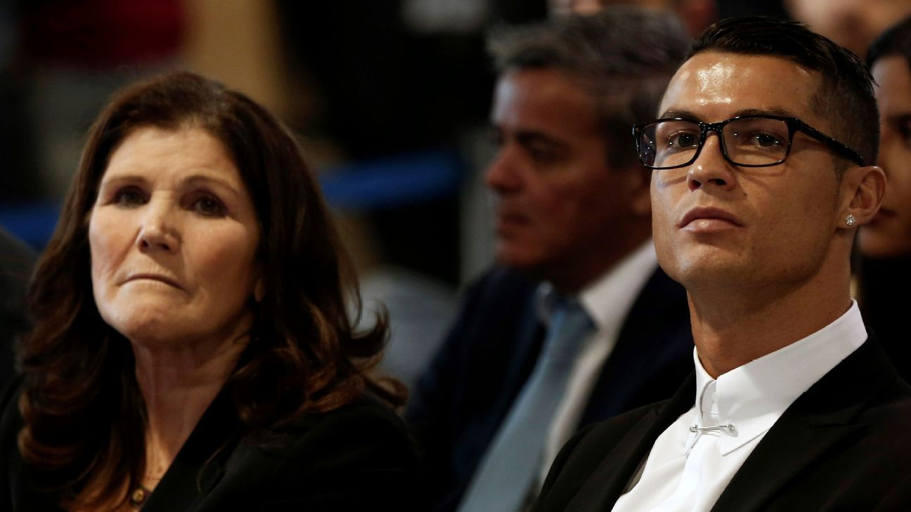 Cristiano Ronaldo and his mother, Maria Dolores dos Santos Aveiro