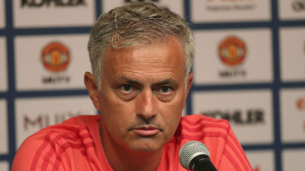 Jose Mourinho was speaking at Manchester United's first news conference in preseason.