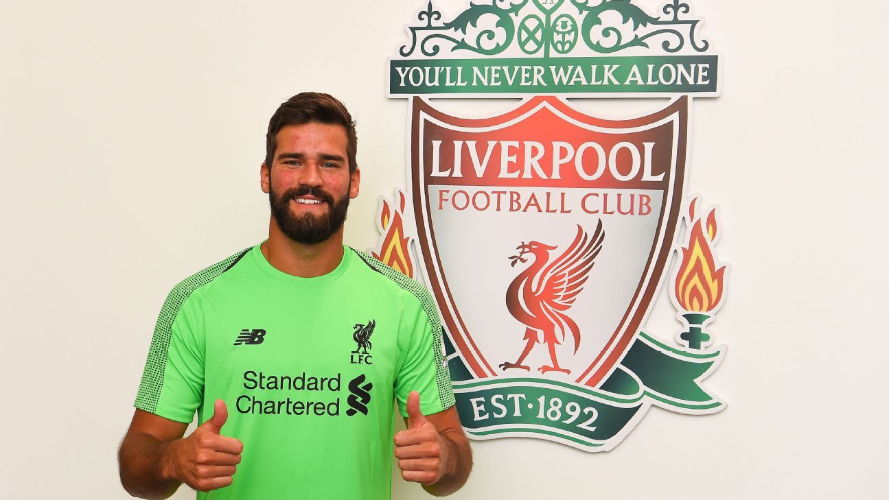 Alisson joins Liverpool after a window-long saga.