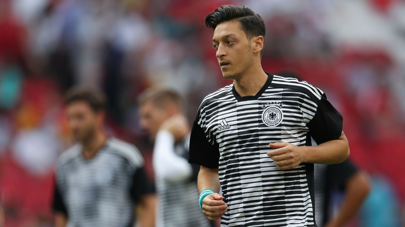 Mesut Ozil ahead of Germany's World Cup game against South Korea.
