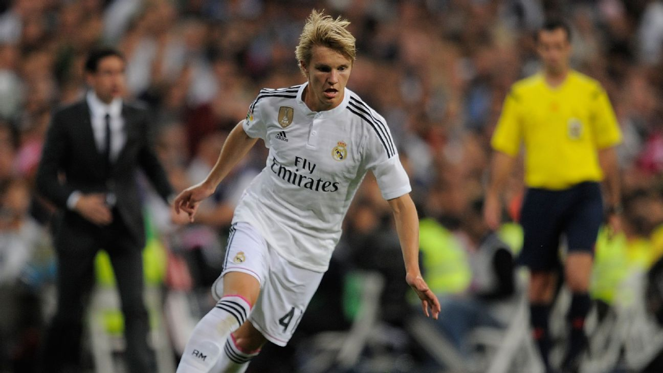 Martin Odegaard was signed as a teenager but is still waiting for his chance at Real Madrid.