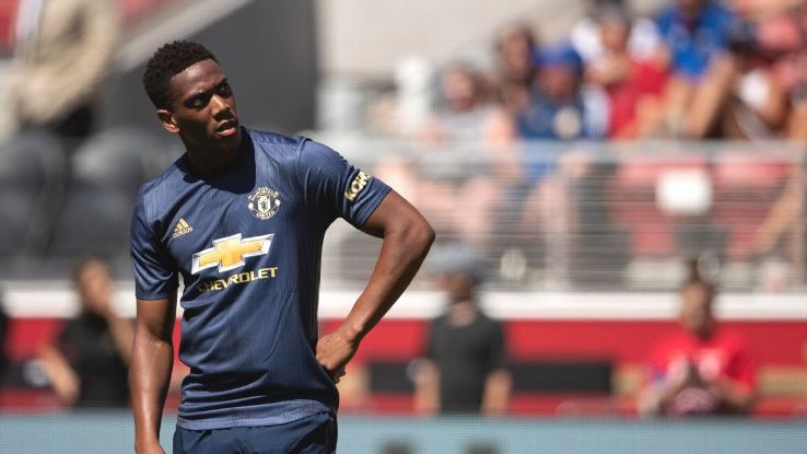 Anthony Martial looks on after Manchester United's 0-0 preseason draw with San Jose Earthquakes.
