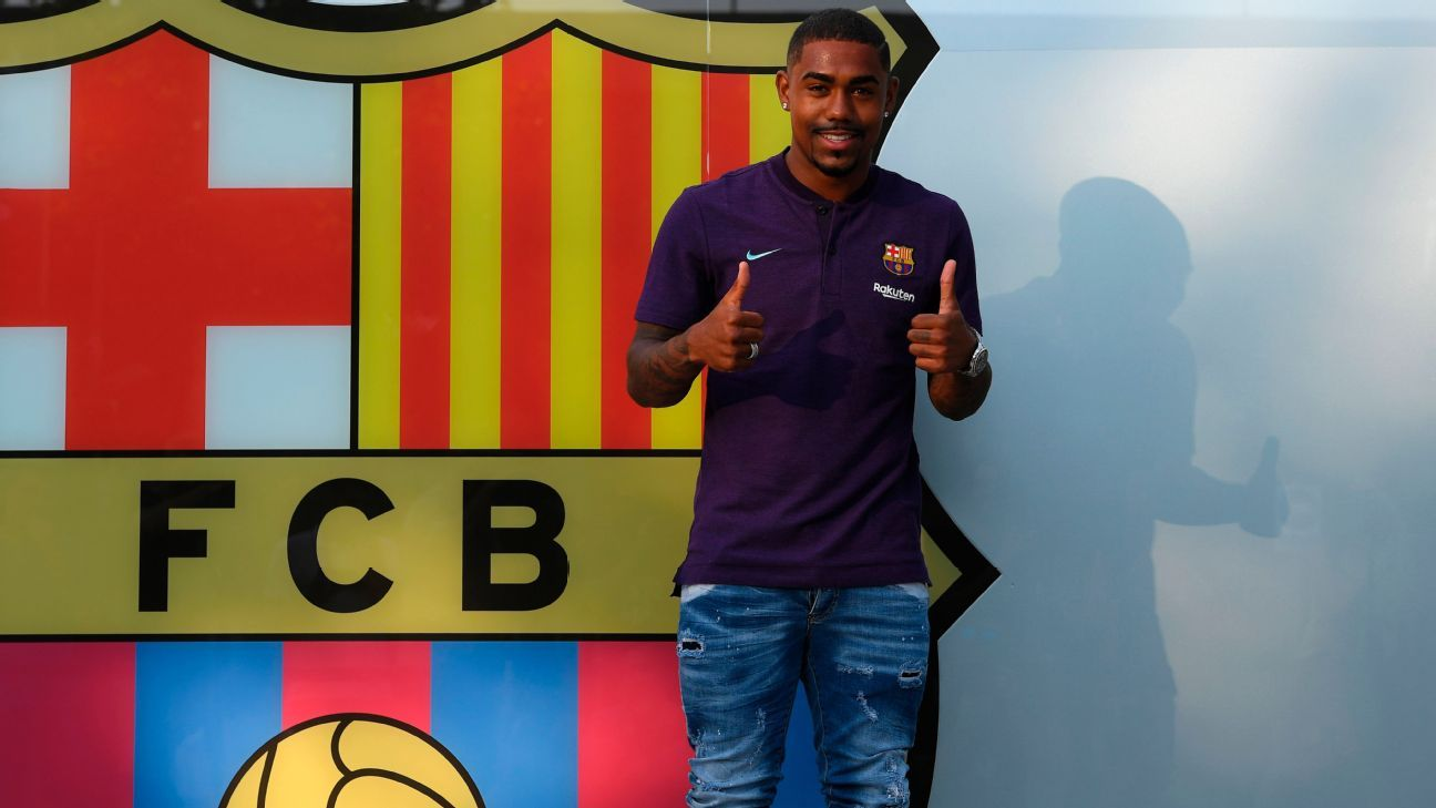 Malcom joined Barcelona from Bordeaux after initially agreeing to join Roma.