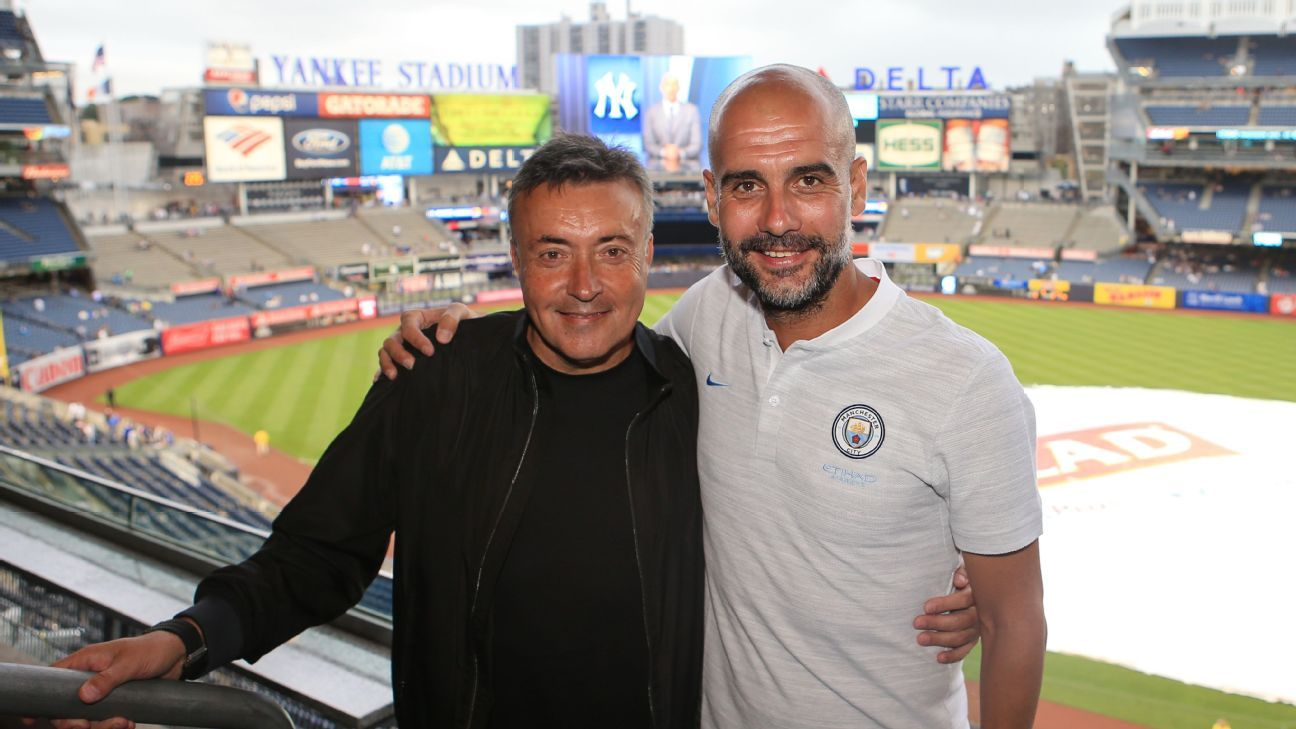 Domenec Torrent and Pep Guardiola go back over a decade to their days with Barcelona.