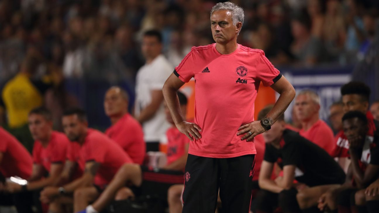 Jose Mourinho often cut a frustrated figure during Manchester United's preseason.