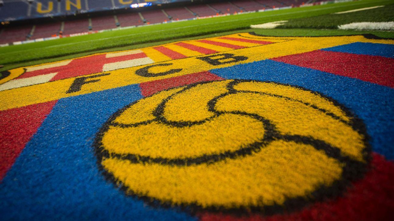 The Barcelona club badge.