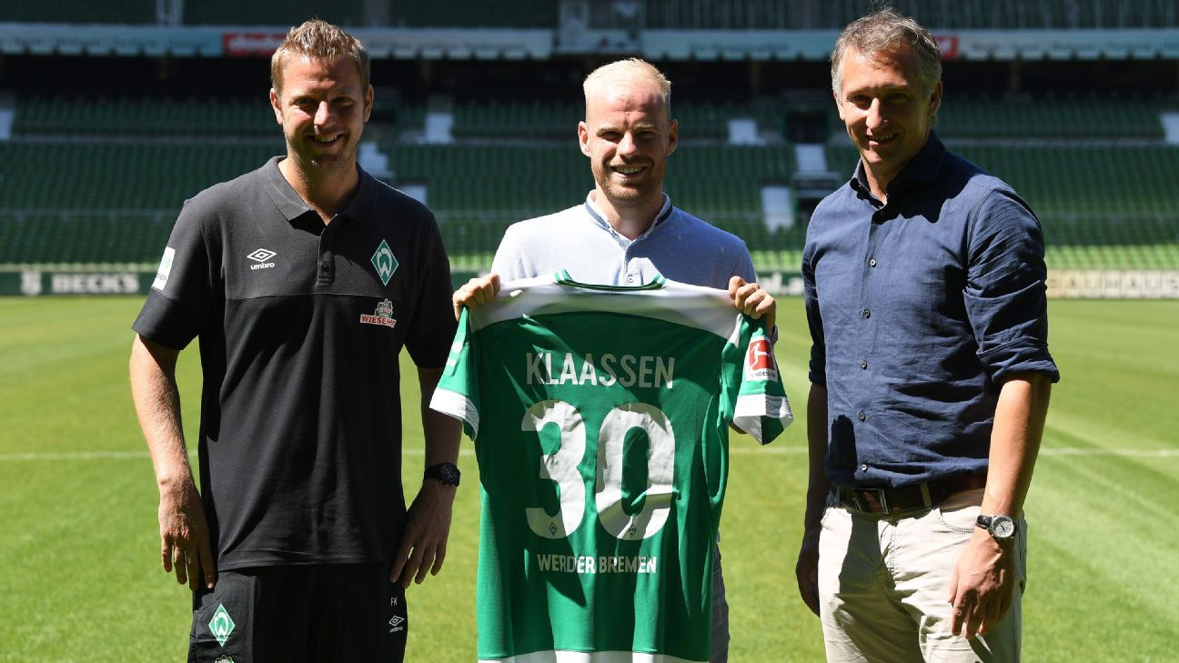 Davy Klaassen joined Werder Bremen from Everton for an undisclosed fee.
