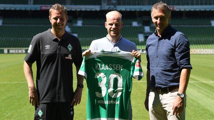 Davy Klaassen joined Werder Bremen from Everton for an undisclosed fee.