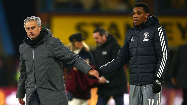 Mourinho and Martial have never quite seen eye to eye during the France international's time at Man United.