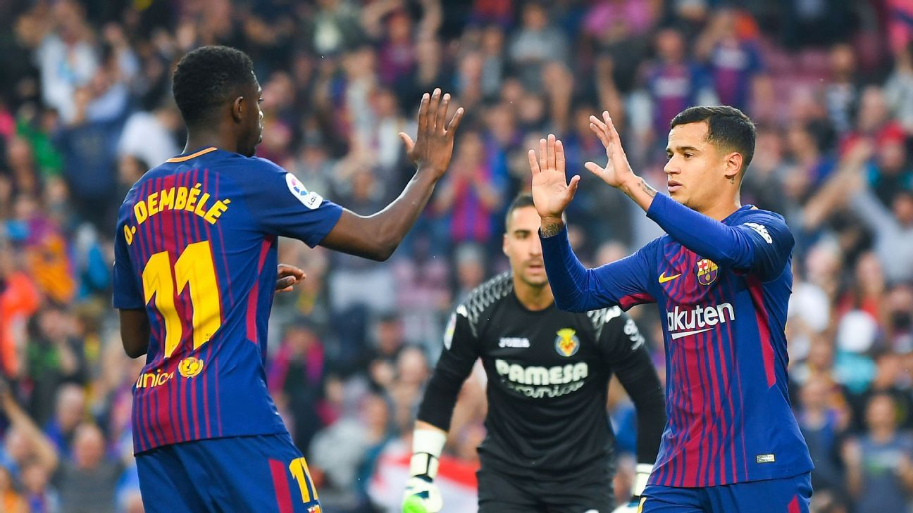 Ousmane Dembele and Philippe Coutinho are two reasons Barcelona could be even better than last season.