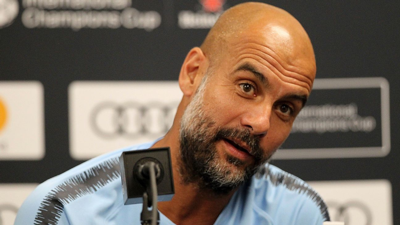 Pep Guardiola is beginning his third season in charge of Man City.