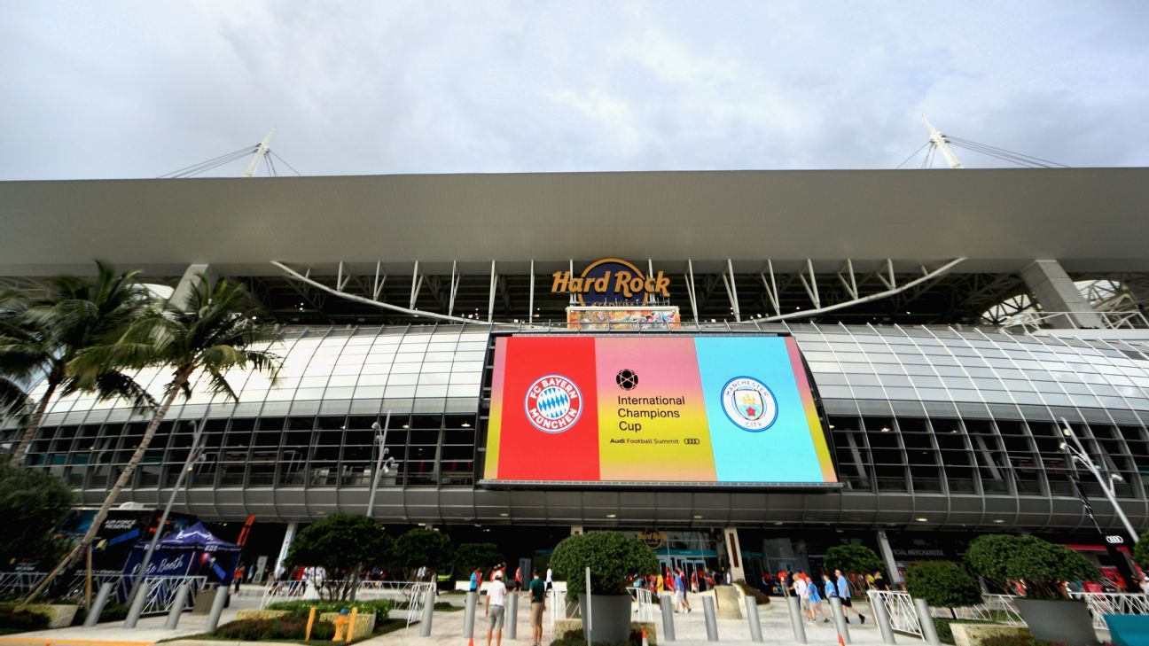 The Hard Rock Stadium will play host to Manchester City and Bayern Munich.