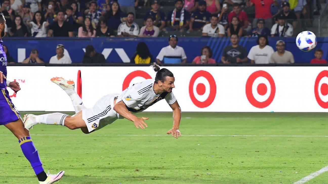 Zlatan Ibrahimovic scores first MLS hat trick to carry LA Galaxy past Orlando City