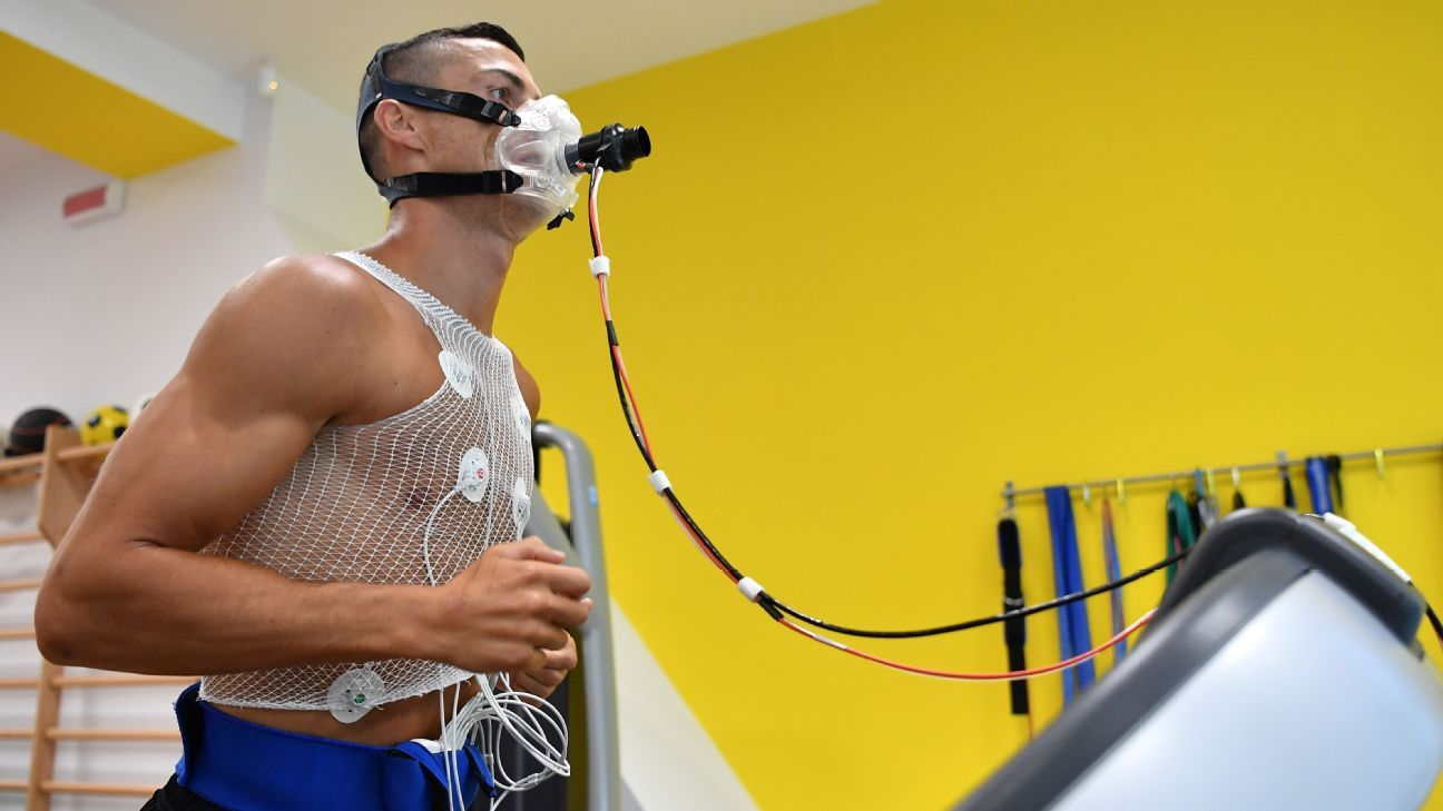 Cristiano Ronaldo undergoes medical tests on his first day of preseason at Juventus.