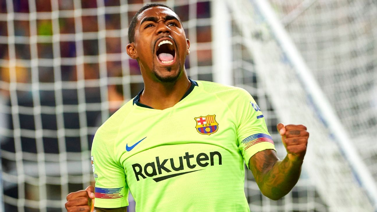 Barcelona's Malcom scored against in the ICC, just days after he almost joined the Italian club