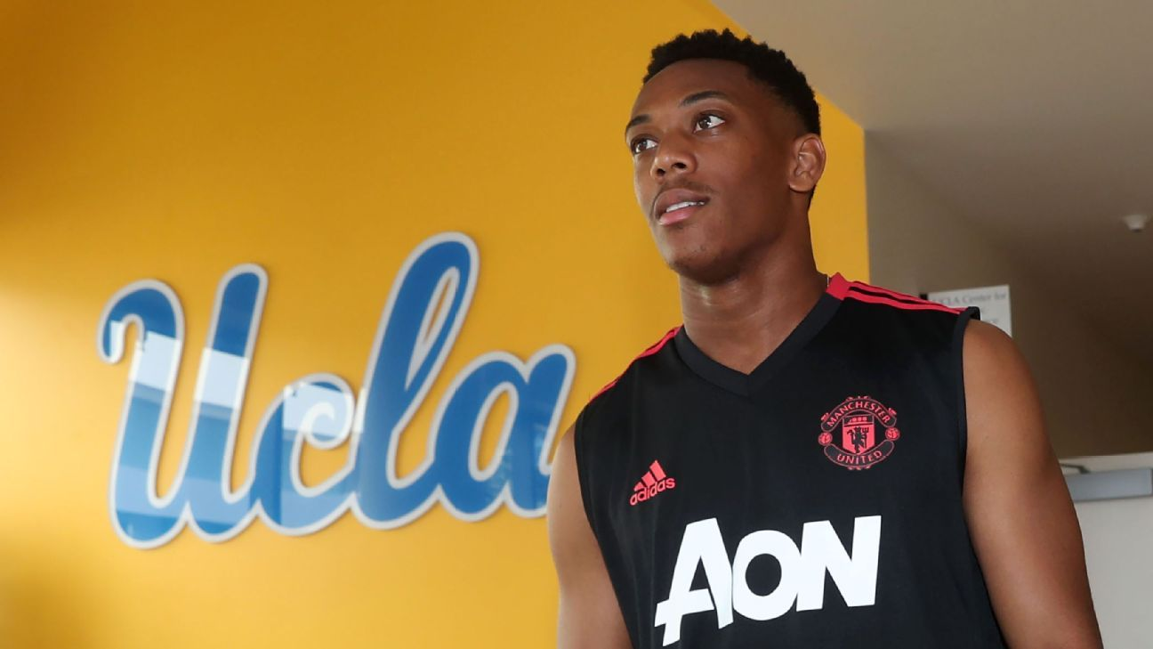 Anthony Martial left Manchester United's preseason tour early.