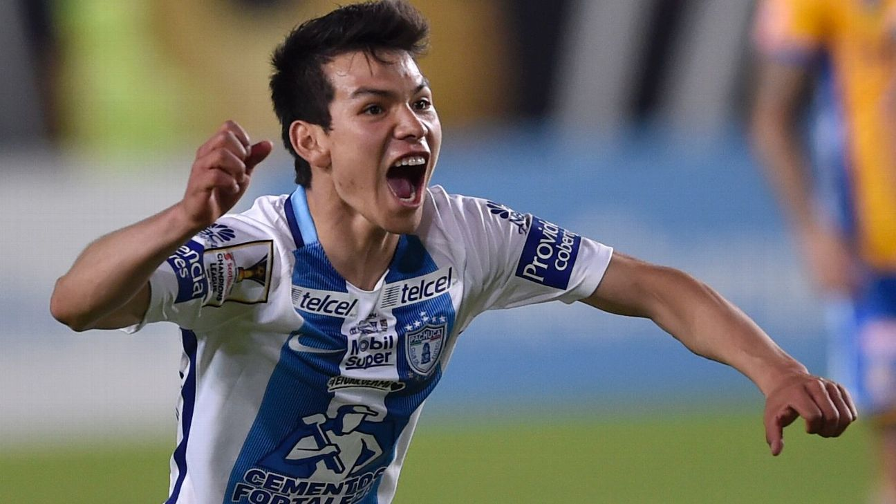 Hirving Lozano rose through Pachuca and has become a star in Europe and with Mexico.