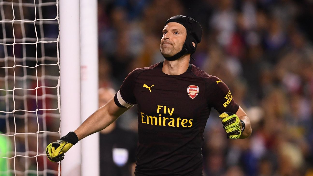 Petr Cech was Arsenal's penalty shootout hero against Chelsea.
