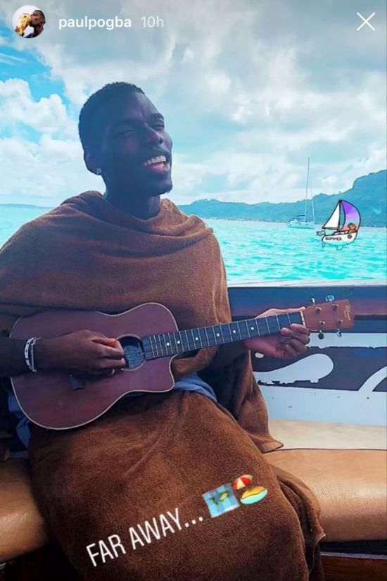 Paul Pogba posted this charming post-World Cup holiday snap on his Instagram account