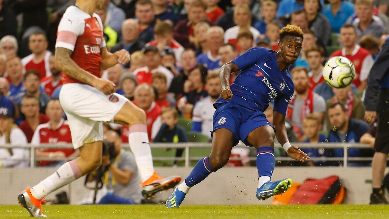 Callum Hudson-Odoi impressed in Chelsea's friendly with Arsenal.