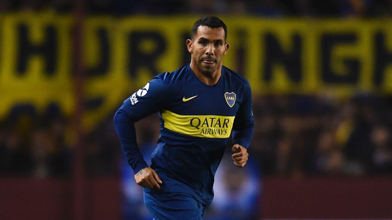Boca Juniors' Carlos Tevez
