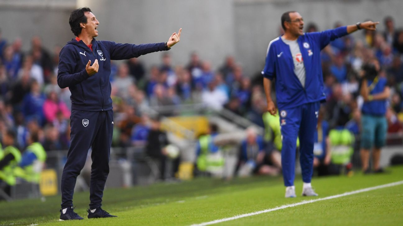 Unai Emery and Maurizio Sarri face different challenges at their respective new clubs.