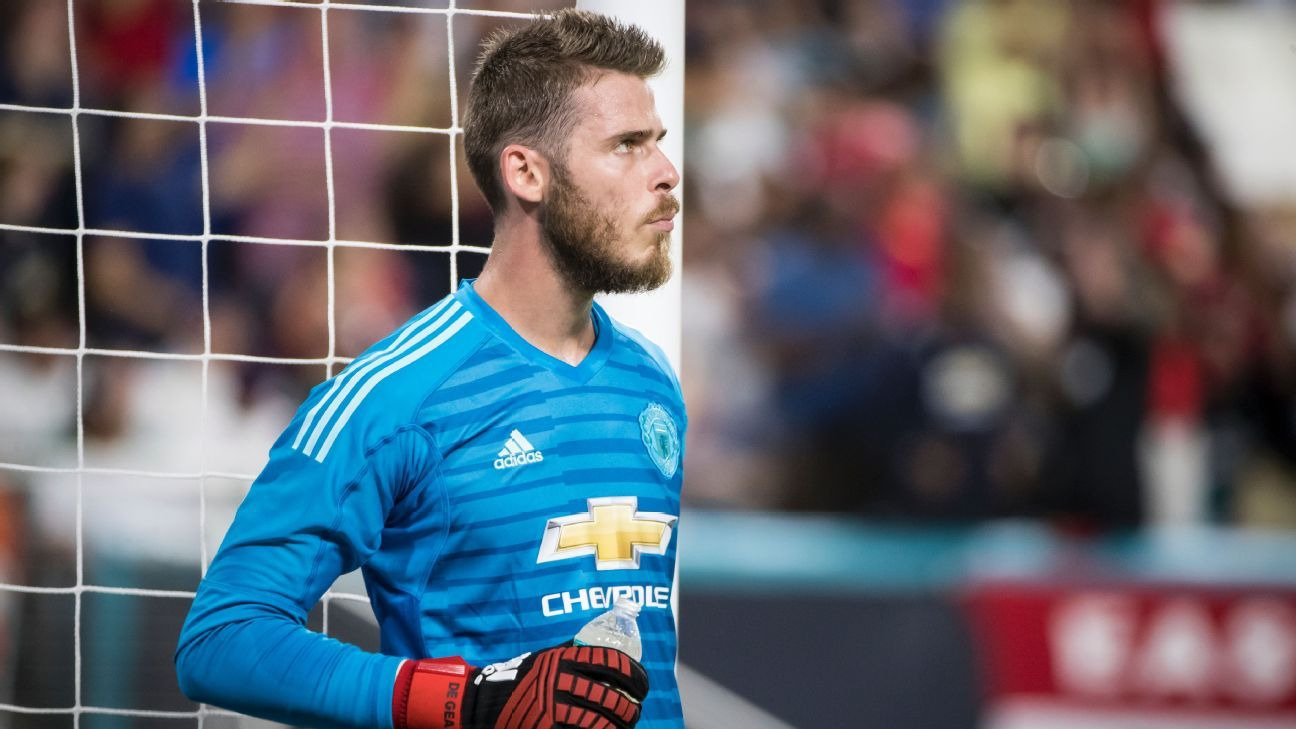 David De Gea during Manchester United's preseason victory against Real Madrid.