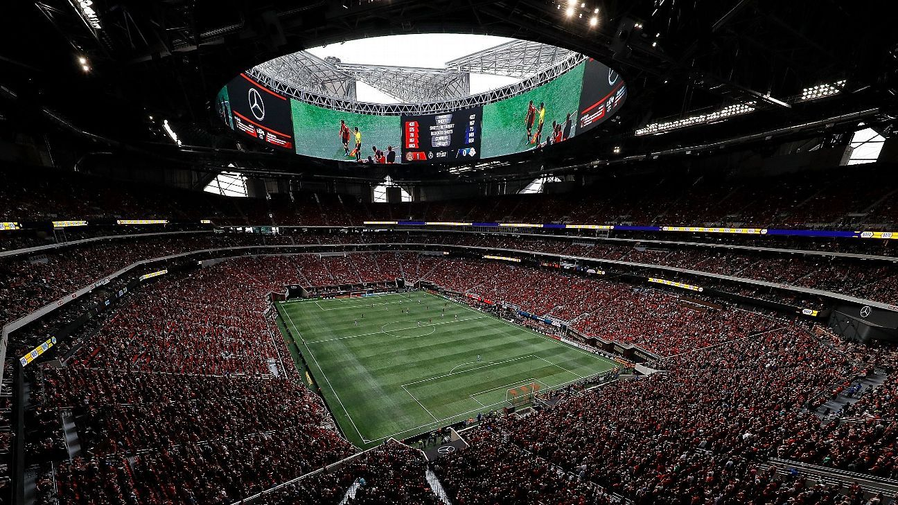 Atlanta United's Mercedes-Benz Stadium.