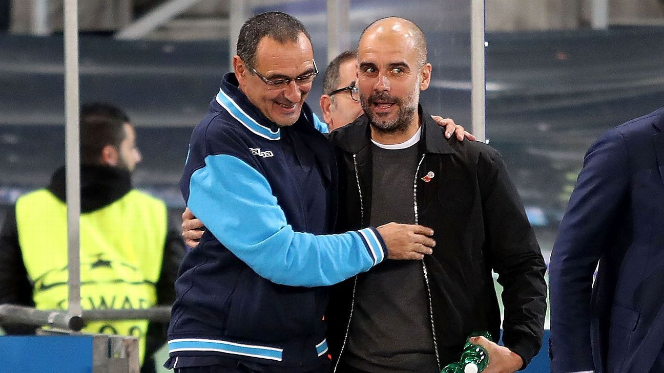 Maurizio Sarri and Pep Guardiola share a footballing philosophy, and the Community Shield should open an interesting rivalry.