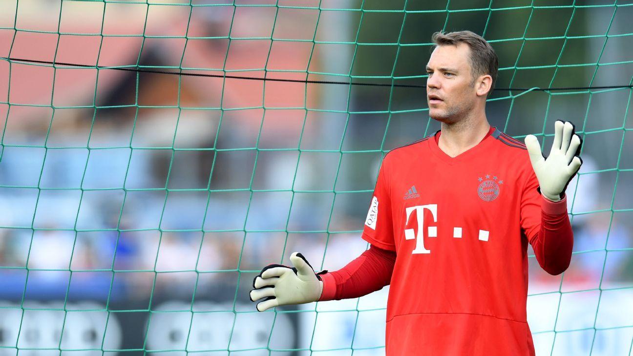 Bayern Munich goalkeeper Manuel Neuer during a preseason training camp.