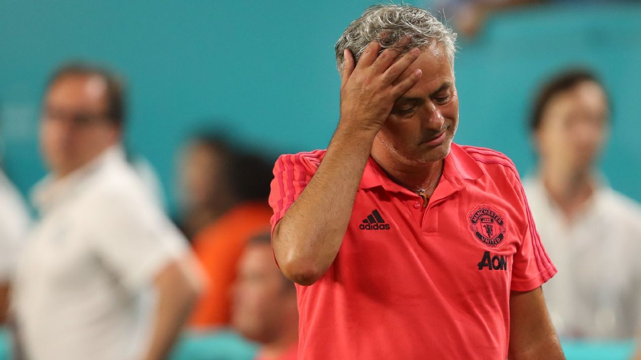 Jose Mourinho's mood cast a cloud over Manchester United's preseason.