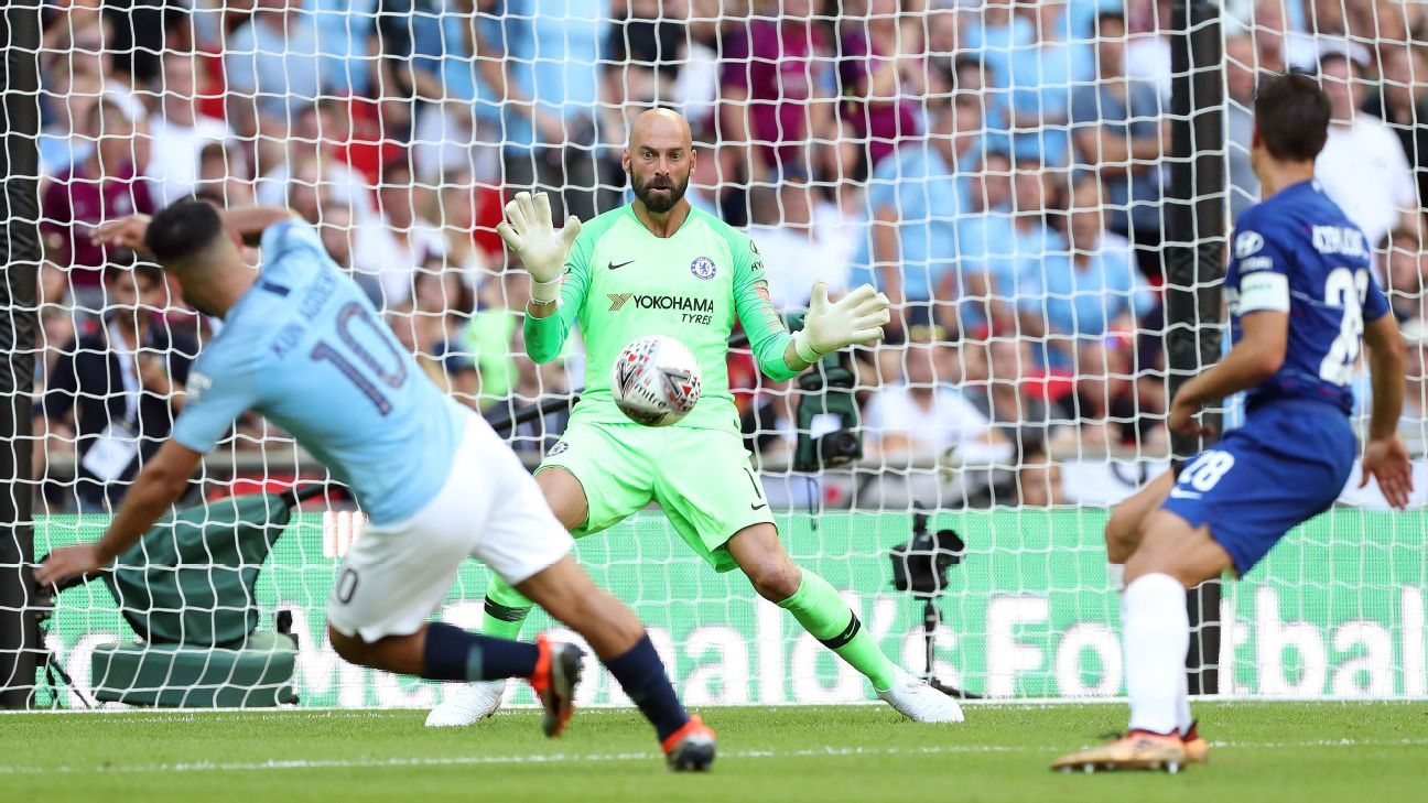 Chelsea have Willy Caballero to thank for keeping the score to 2-0 against Man City on Monday.