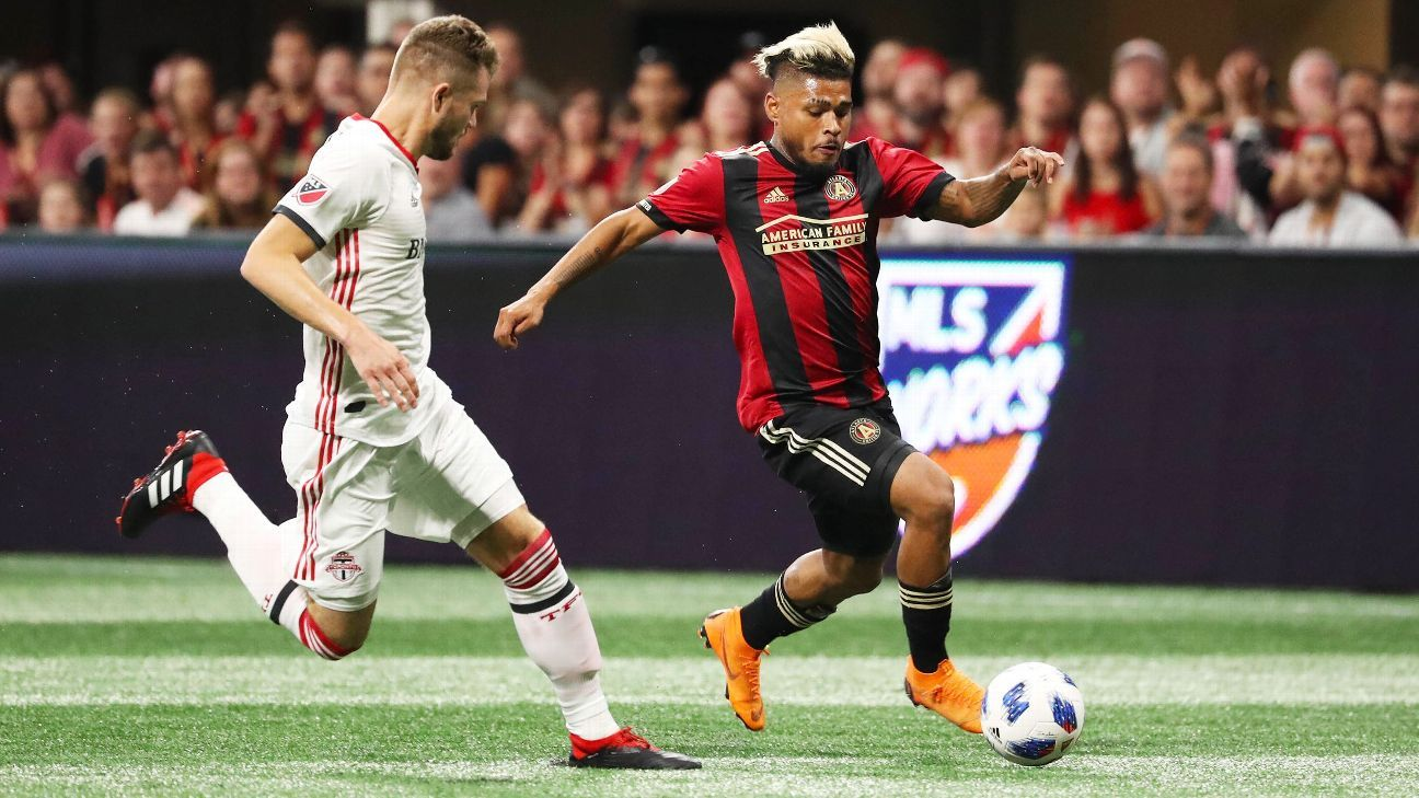 Josef Martinez scored twice in Atlanta's 2-2 draw with Toronto FC.