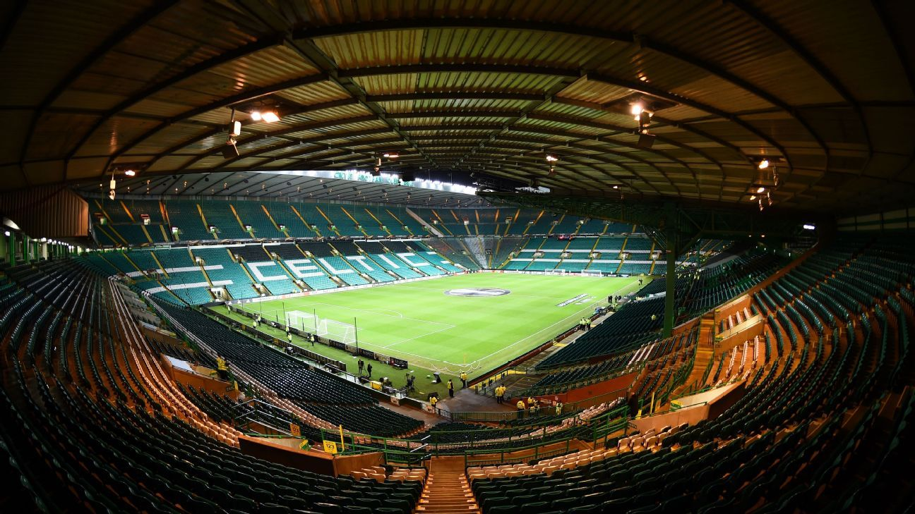 Celtic Park in Glasgow, Scotland.