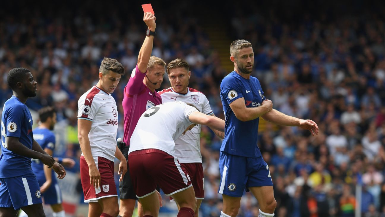 Of all the games revised by the Luck Index, Chelsea's opening day defeat to Burnley sticks out given Gary Cahill's early red card.