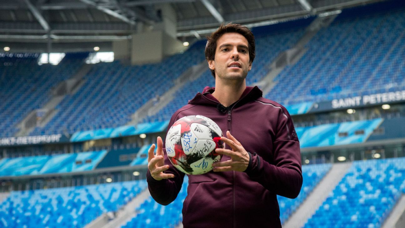 Former AC Milan player Kaka at the St. Petersburg Stadium.