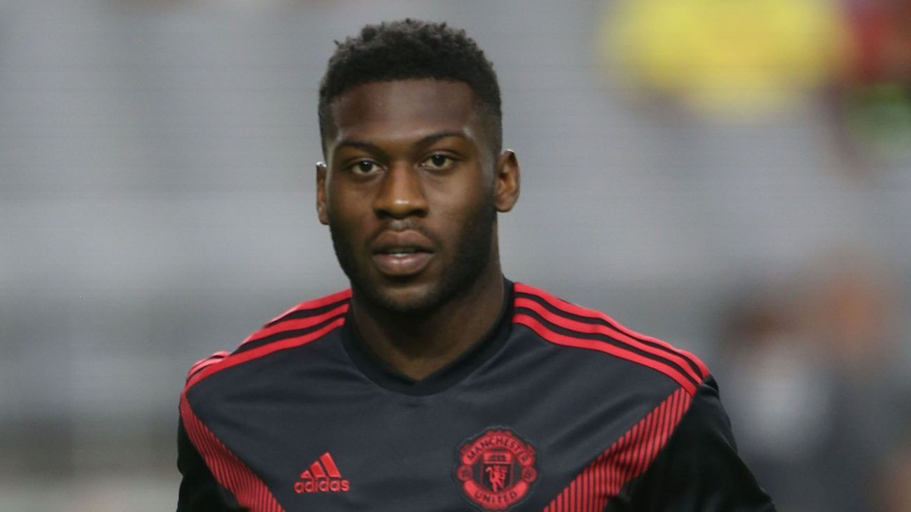 Manchester United's Timothy Fosu-Mensah before a friendly against Club America.