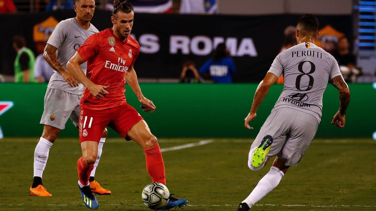 Gareth Bale assisted on Real Madrid's first goal and scored their second against Roma.