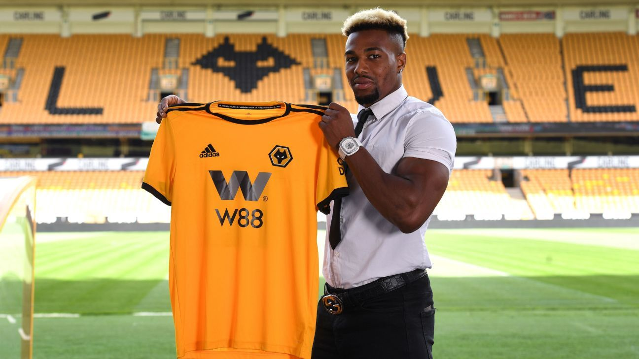 Adama Traore joined Wolves from Middlesbrough on a five-year contract.