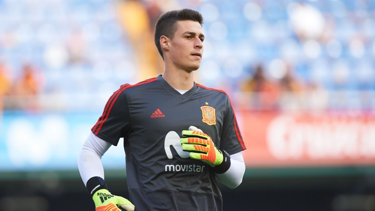 Kepa Arrizabalaga was part of Spain's squad at the World Cup.